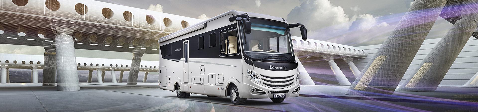 Concorde Luxus-Wohnmobile zum Mieten bei Niesmann Caravaning